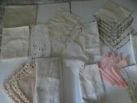 Mixed Linen Lot 28 Pieces Napkins Tablecloth Runners Tea Towel Flaws Cutter