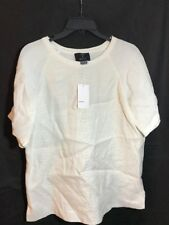 NWT $295 Vince. Mix Media Lightly Quilted Blouse Shirt Off-White [sz: XS] #C317