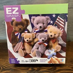 Puzzle EZ Grasp Teddy Bears With Flags 300 Pieces