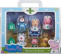 Peppa Pig Doctors & Nurses Mini Action Figure Figures Playset 8 Piece Toy Set