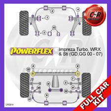 Fits Impreza + WRX STi GD,GG 00-04 Fr Arm Rr Caster Bushes Powerflex Full Kit
