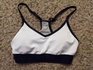 Victoria's Secret PINK Ultimate Sports Bra Size XS White and Black
