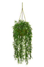 Artificial Bamboo Hanging Basket Arrangement Plastic Plants Decor Bush Patio 724
