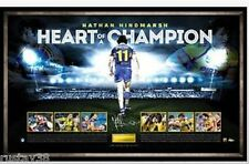 NATHAN HINDMARSH PARRAMATTA EELS HAND SIGNED FRAMED HEART OF A CHAMPION PRINT