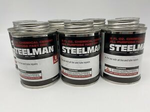 Steelman Chemical Vulcanizing Cement 8oz. Tire Repair Sealant G10105 Lot Of 7