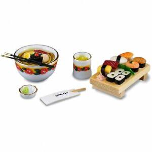 Dollhouse Miniature Reutter Sushi Set with Soup & Wasabi 1.609/6
