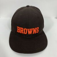 New Era Cleveland Browns Men's Brown Basic 59FIFTY Fitted Hat NFL Cap Size 7 1/8