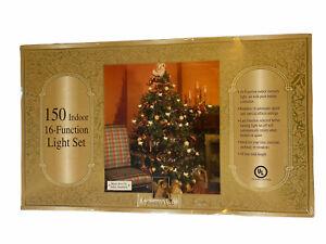 Vintage Grandeur Noel (2) Sets 150 Indoor 16-Function Light Set CLEAR NEW 60-753