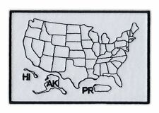 Motorcycle Jacket Patch - States Traveled Map - Color in States You Visited