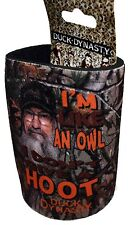 """NEW Duck Dynasty """"IM LIKE AN OWL"""" Beverage Cooler - BROWN can or bottle"""