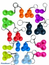 Mini Pop It Sensory Fidget Simple Dimple Keyring Autism Stress Relief ADHD Calm