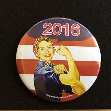 Hillary Can Do it 2016 Political Campaign Button