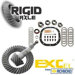 """Ford 8.8"""" 10 Bolt 3.73 Richmond Excel Ring Pinion Gear Set w/ Master Bearing Kit"""