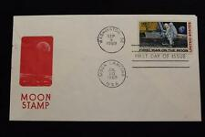 SPACE COVER 1969 APOLLO 11 MOON LANDING  & 1ST DAY ISSUE DUAL CANCEL (807)