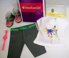 AMERICAN GIRL LEA CLARK RAIN FOREST HIKE OUTFIT - NEW IN ORIGINAL BOX