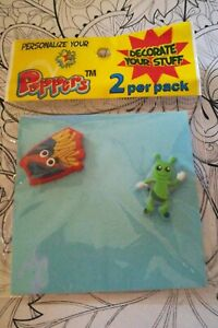 Croc shoe charms PVC French Fries & Alien Shoe jewelry (2 per pack) Croc New