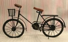 Large Dark Tone Metal Scale-Model Replica Bicycle • Working Chain Pedals Wheels