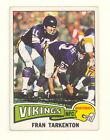 1975 TOPPS FOOTBALL FRAN TARKENTON CARD #400 VG-EX NO CREASES (494)