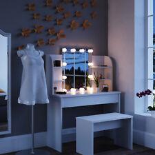 Vicco Schminktisch Charlotte LED 142x108cm weiß Frisiertisch Kommode Spiegel