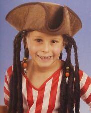 bambini ragazzi Costume Pirata Cappello con capelli JACK LIBRO GIORNO NUOVO