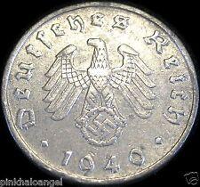 German Third Reich 1940G Reichspfennig Coin World War 2