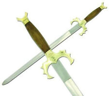 Medieval Warlock Sword with Leather Sheath