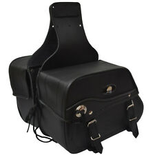 Aqwa Motocicleta Moto Universal Bolsa sillín Par De Cuero Sintético, Negro