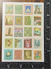 ITALY TRAVEL STICKERS STAMPS DESIGN, ONE SHEET BEAUTIFUL STICKERS #ITALY8