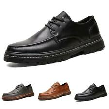 British Mens Low Top Leisure Leather Shoes Business Work Oxfords Lace up Formal
