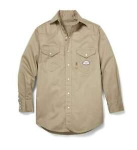 Rasco Fire Resistant  FR Khaki Lightweight  Shirt NWT