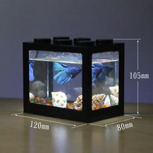 Mini USB Small Aquarium Fish Bowls Aquarium Supplies  Rumble Fishes Cylinder Fis