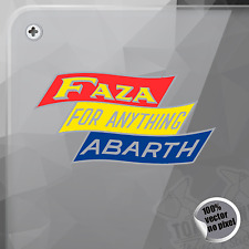 PEGATINA FAZA FOR ANYTHING ABARTH DECAL STICKER AUFKLEBER AUTOCOLLANT