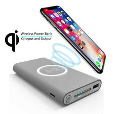 Wireless Solar Charger Portable Double USB Powerbank Battery Quick Charge