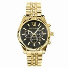 Michael Kors Men's MK8286 Lexington Chronograph Watch Gold Strap & Case