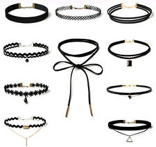 Leather Retro Choker Costume Necklaces & Pendants