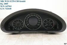 Tacho W 211 E 270 CDI Kombiinstrument Speedometer Automatik Kombi A 2115408847