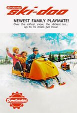 Ski-Doo Snowmobile - Vintage 1965 Advertising Poster