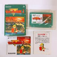 The Legend of Zelda 1 with Box and Manual Famicom Japan FC NES