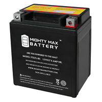Mighty Max YTX7L-BS 12V 6Ah Replaces Power Sonic PTX7L-BS + 12V 1Amp Charger