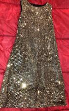 NAUGHTY SEXY WOMAN HALLOWEEN COSPLAY COSTUME LAS VEGAS GOLD SHORT SHORT DRESS