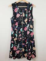 PORTMANS Womens Size 12 Fit & Flare Zip Up Floral Dress