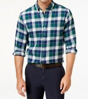 John Ashford New Men's Long-Sleeve Plaid Flannel Button-Down Shirt