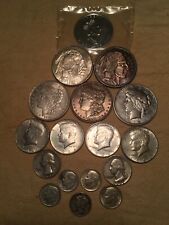 Mixed Silver Coin Lot No Reserve Auction Worth A Look Here Morgan Peace Maple