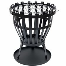 Steel Brazier Round Fire Pit Basket Garden Patio Heater BBQ By Home Discount