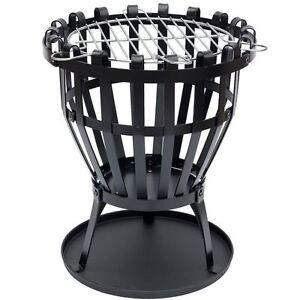 Steel Brazier Round Fire Pit Basket Garden Patio Heater BBQ By Home Discount