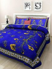 Jaipuri Printed Rajasthani King Size Double Bedsheet with 2 Pillow Cover