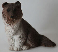 Collie Statue Sable and White Rough Sitting 3 1/2 inches tall
