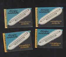 Anciennes  étiquettes allumettes Pologne BN5436 Lampes Néons
