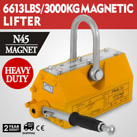 6600LBS Magnetic Lifter Crane Hoist Lifting Magnet Steel 3000KG High Quality