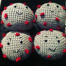 New listing crochet, Virus Stuffy, Happy Virus